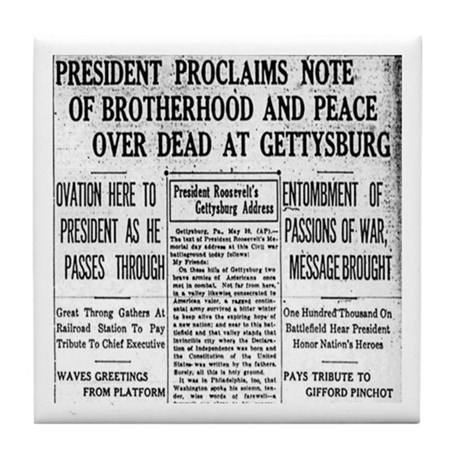 Lincoln's Gettysburg Address News Coverage Tile Co
