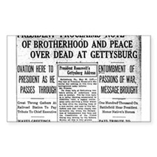 Lincoln's Gettysburg Address News Coverage Decal