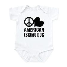 Peace Love Eskimo Dog Infant Bodysuit