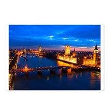 Cityscape of London at Night Postcards (Package of
