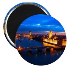 Cityscape of London at Night Magnet