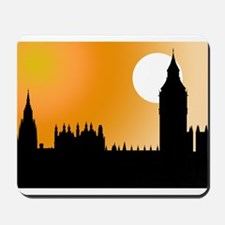 Houses of Parliament Silhouet Mousepad