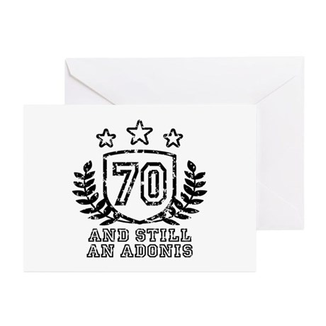 70th Birthday Greeting Cards (Pk of 10)