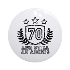70th Birthday Ornament (Round)