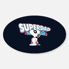 Peanuts Super Dad Decal