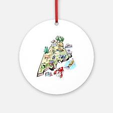 Maine Map Ornament (Round)
