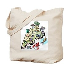 Maine Map Tote Bag