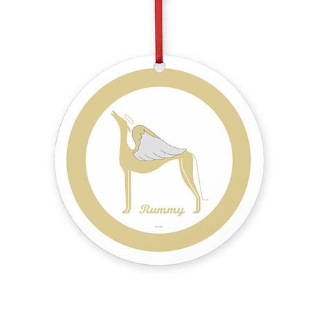 RUMMY ANGEL GREY ROUND ORNAMENT