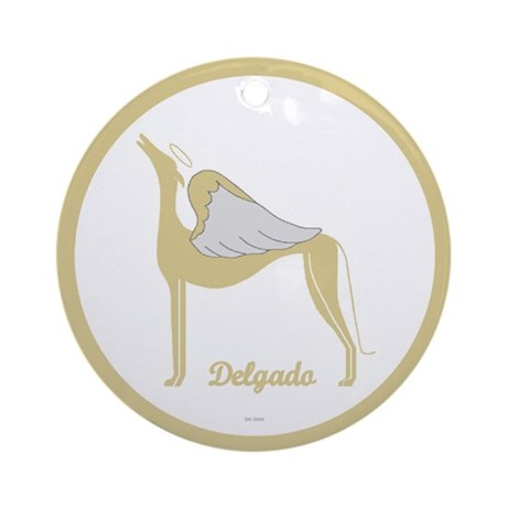 DELGADO ANGEL GREY ROUND ORNAMENT