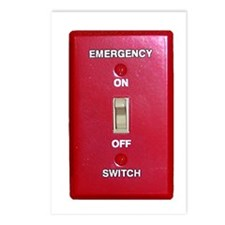 Emergency Switch... Postcards (Package of 8)