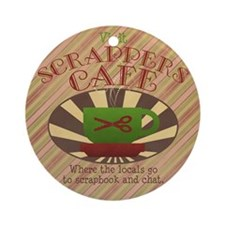 Scrappers Cafe Ornament (Round)