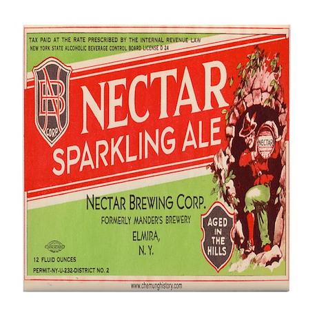 Elmira's Nectar Brewery Tile Coaster