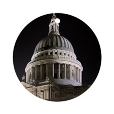 St Pauls Cathedral Illuminate Ornament (Round)