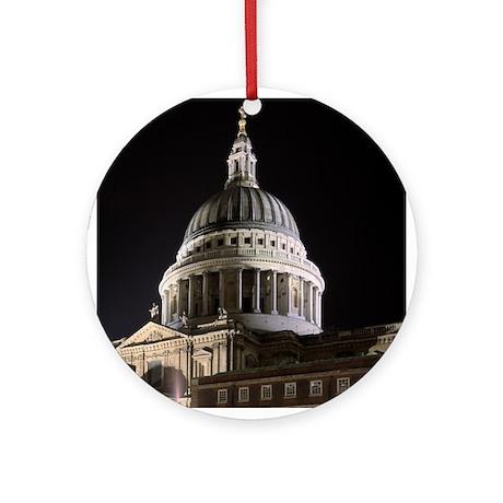 St Pauls Cathedral Illuminate Ornament (Round)