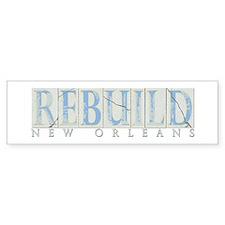 Rebuild New Orleans Bumper Bumper Sticker