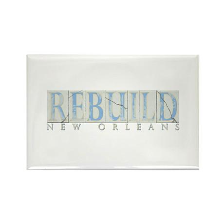 Rebuild New Orleans Rectangle Magnet