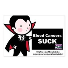 Blood Cancers Suck Postcards (Package of 8)