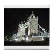 Tower Bridge at Night Tile Coaster