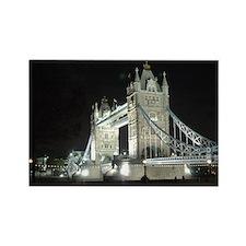 Tower Bridge at Night Rectangle Magnet