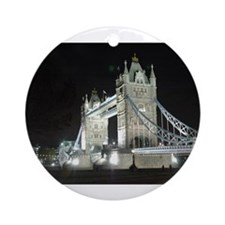 Tower Bridge at Night Ornament (Round)