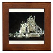 Tower Bridge at Night Framed Tile