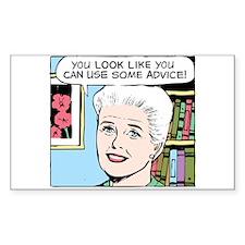 Advice Rectangle Sticker