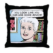 Advice Throw Pillow