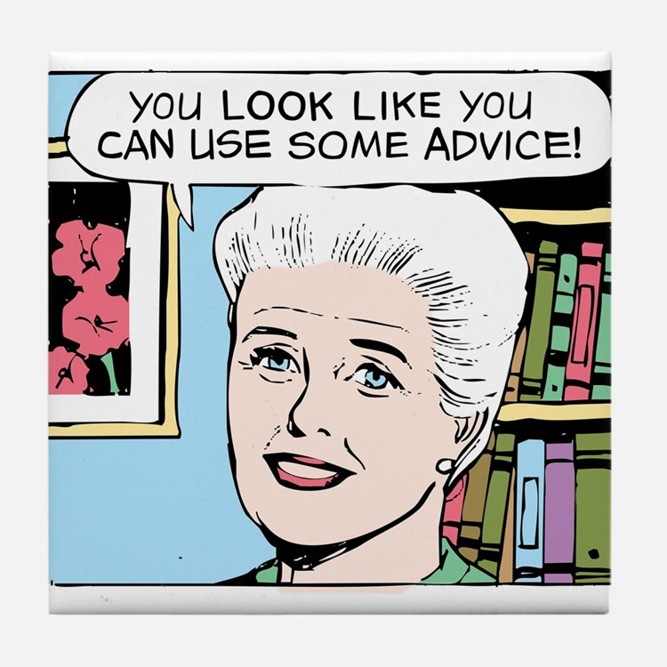 Advice Tile Coaster