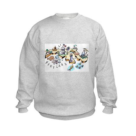 Maryland Map Kids Sweatshirt