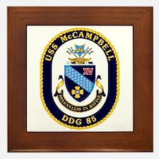 USS McCampbell DDG 85 US Navy Ship Framed Tile