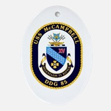 USS McCampbell DDG 85 US Navy Ship Oval Ornament