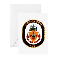 USS Monterey CG 61 US Navy Ship Greeting Card