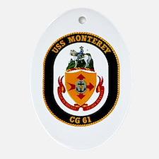 USS Monterey CG 61 US Navy Ship Oval Ornament