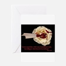 Unique Blood drips Greeting Card