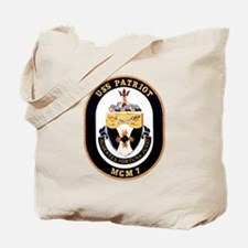 USS Patriot MCM 7 US Navy Ship Tote Bag