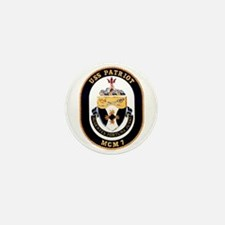 USS Patriot MCM 7 US Navy Ship Mini Button
