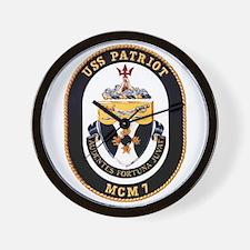 USS Patriot MCM 7 US Navy Ship Wall Clock