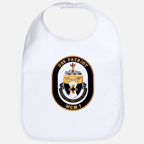USS Patriot MCM 7 US Navy Ship Bib