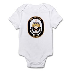 USS Patriot MCM 7 US Navy Ship Infant Bodysuit