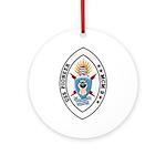 USS Pioneer MCM 9 US Navy Ship Ornament (Round)