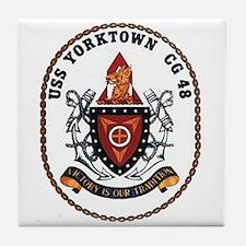USS Yorktown CG 48 US Navy Ship Tile Coaster