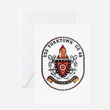 USS Yorktown CG 48 US Navy Ship Greeting Card