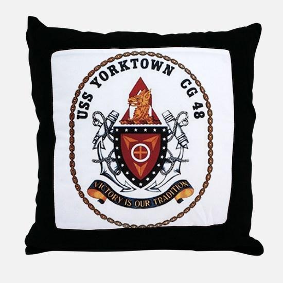 USS Yorktown CG 48 US Navy Ship Throw Pillow