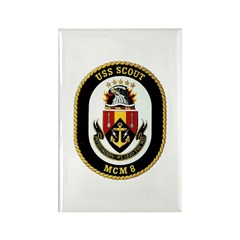 USS Scout MCM 8 Navy Ship Rectangle Magnet