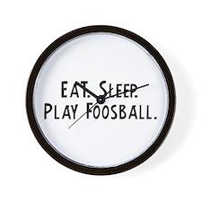 Eat, Sleep, Play Foosball Wall Clock