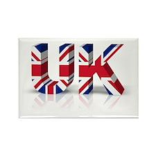3D UK Union Flag Rectangle Magnet