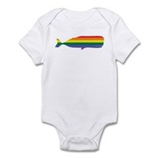 Gay Whale Rainbow Infant Bodysuit