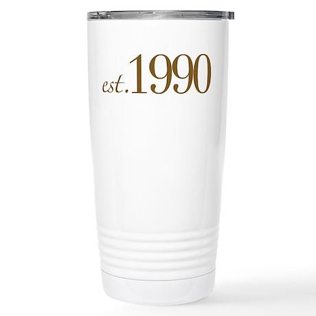 Est. 1990 (Birthday) Stainless Steel Travel Mug