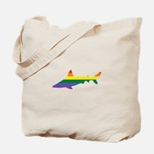 Gay Shark Rainbow Tote Bag