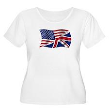 UK US Flag T-Shirt